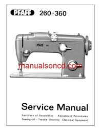 Pfaff Sewing Machine Manual