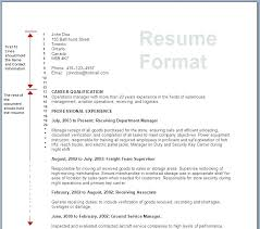 Sample Of A Resume Format Resume Writing Format Format In Resume