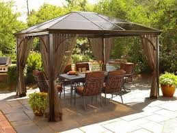 patio with metal gazebo and curtains useful outdoor gazebo outdoor gazebo curtains