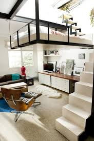 View in gallery Staircase leading to the suspended bedroom