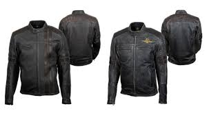 on the left is the scorpion 1909 leather jacket and on the right is the scorpion