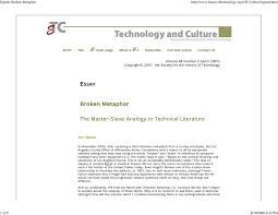 broken metaphor the master slave analogy in technical literature broken metaphor the master slave analogy in technical literature pdf available