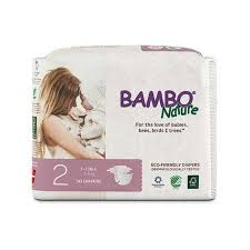 Bambo Disposable Eco Diapers Size 2 7 13 Lbs 3 6 Kg