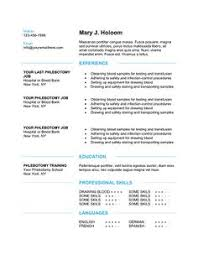 10 free phlebotomy resume templates to get you noticed now sample phlebotomist resume