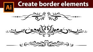 Adobe Illustrator Tutorial How To Design Vintage Border Elements