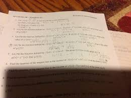 Ap calculus bc exam, ap calculus bc. Solved Vative Of Lovers O 12 F 1 10 What Is The Va Chegg Com