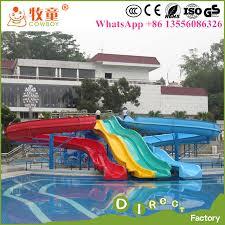 china hot ing amusement park used fiberglass water slide for china water park equipment water slides