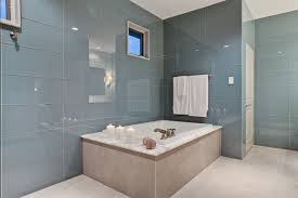 glass bathroom tile