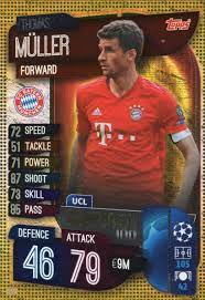 MATCH ATTAX 19/20 Thomas Muller UCL Centurion Trading Card - Bayern Munich:  Amazon.de: Spielzeug