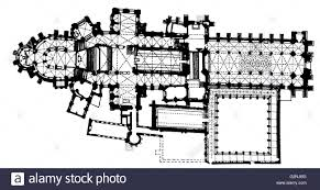 Plan Canterbury Cathedral Begun C 1100 Architecture Cathedral Cathedral Floor Plans