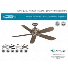 amasco air wolf 48 ceiling fan singapore furniture on carou