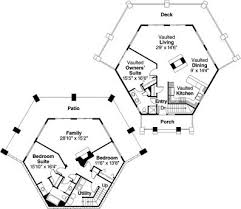 European House Plans Hillview 11 138 Associated Designs Small Hexagon House Plans