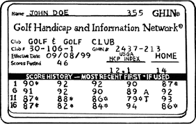 How To Use The Golf Handicap System Dummies