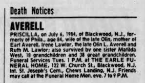 Priscilla Kelley Averell death notice - Newspapers.com