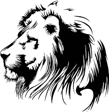 lion face black and white clipart. In Lion Face Black And White Clipart