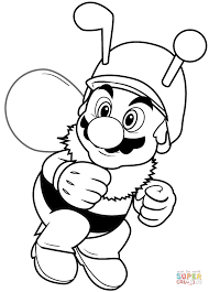 Small Picture Bee Mario coloring page Free Printable Coloring Pages