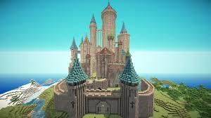 マインクラフト建築 とんがり屋根の城