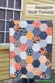 Best 25+ Hexagon quilt pattern ideas on Pinterest | Hexagon quilt ... & A free quilting pattern for a large hexagon halloween quilt. A cheater way  to make Adamdwight.com