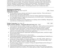 Qa Director Resume Quality Assurance Resumes Quality Assurance Resume Sample Hloom 8