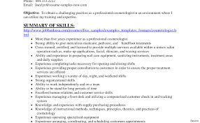 Cosmetologist Resume Resume For Cosmetologist New Position Instructor Vesochieuxo 82