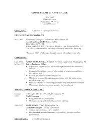 Criminal Justice Resume Cover Letter Examples Piqqus Com