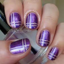 The Polish Playground: Purple and Holographic Neutral Plaid