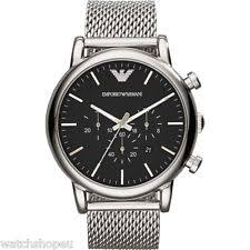 mens large watches new emporio armani ar1808 mens large mesh luigi watch 2 years warranty