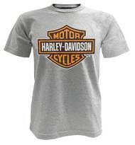 harley davidson men s bar shield t shirt short sleeve tee gray