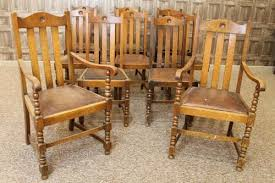 set of 10 edwardian oak dining chairs antiques atlas rh antiques atlas com antique oak table and chairs antique oak dining chairs