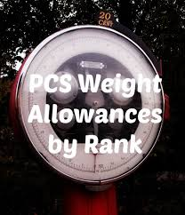 Army Moving Weight Allowance For A Pcs Move Married To The