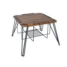 flores coffee table suar wood top metal base 26 26