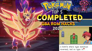 Top 5 Completed Pokemon GBA Rom Hacks 2020!!! - YouTube