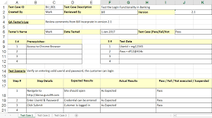 test plan template excel uat testing template sample test case template with explanation of