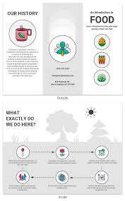 Trifold Template Food Tri Fold Brochure