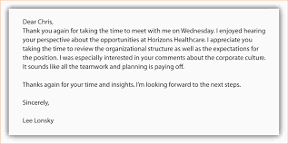 Sample Thank You Email After Group Interview Perfect Resume Format