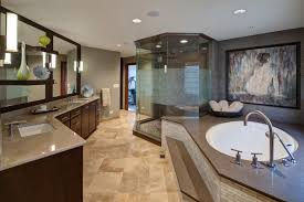 master bathroom suites. Spacious Master Bathroom With Step-up Bathtub And Six-sided Glass Shower By Drury Suites R