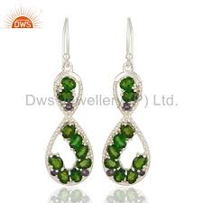 more views 925 sterling silver russian chrome diopside