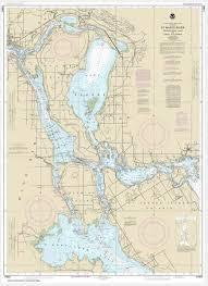 Noaa Chart St Marys River Munuscong Lake To Sault Ste Marie 14883