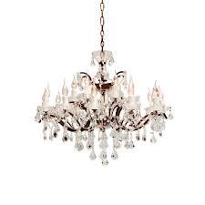 crystal chandelier medium antique rust