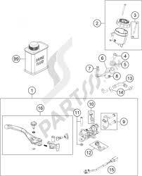 Hand brake cylinder ktm 1190 adventure abs grey 2014 eu