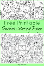 Free Garden Coloring Page For Adults Crafts On Sea Colouring Pages
