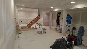 finished basement drywall