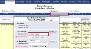 week time schedule template save a week template mgrhelp