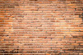 old wide thin brick wall texture