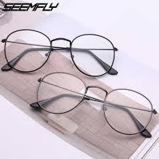 <b>Seemfly 2019</b> Retro <b>Metal</b> Round Glasses Frame Women Men Flat ...