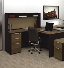 t shaped office desk furniture bestar pro concept l shaped desk with small