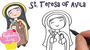 More than 5.000 printable coloring sheets. St Teresa Of Avila How To Draw Video And Coloring Page