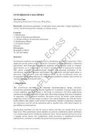 pdf synchronous machines