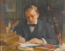 portrait of sir winston churchill as a young man painting by celestial images