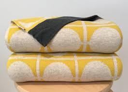 knitted throw blankets yellow mid century modern  urbaani homewares